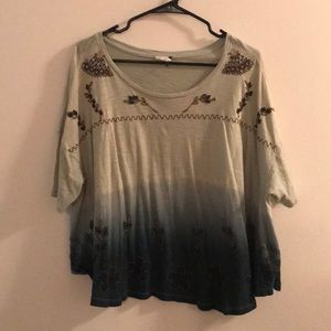 Blue Anthropologie top